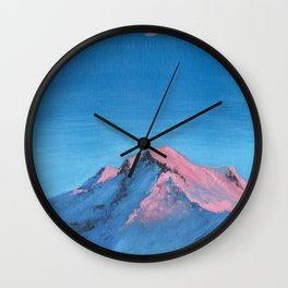 pink mountain tops Wall Clock