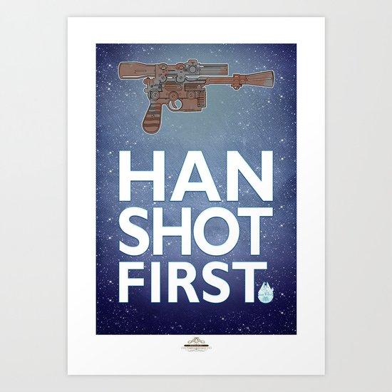 "Star Wars ""Who Shot First?""  Art Print"