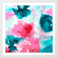water color Art Prints featuring Water color by moniquilla