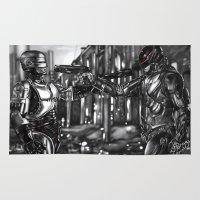 robocop Area & Throw Rugs featuring Robocop 1987 v 2014 by Jamie Briggs