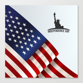American background with space Canvas Print