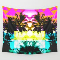 hawaiian Wall Tapestries featuring Hawaiian Quilt by The Digital Weaver