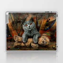 Cat Diesel with teddybear ! Laptop & iPad Skin
