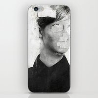 number iPhone & iPod Skins featuring Faceless | number 01 by FAMOUS WHEN DEAD