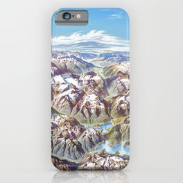 Heinrich Berann - Panoramic Painting of the North Cascades (1987) iPhone Case