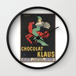 CHOCOLAT KLAUS FRENCH VINTAGE POSTER Wall Clock