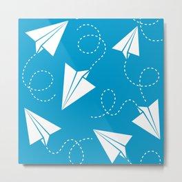 Paper Plane Metal Print