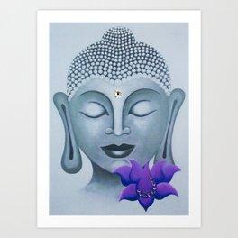 Buddha & Lotus 15 Art Print
