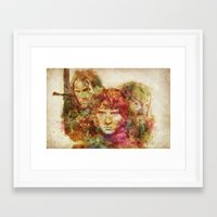 lord of the rings Framed Art Prints featuring The Lord of the Rings by Miriam Soriano