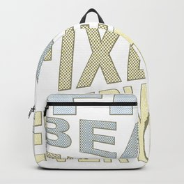 The Beach Fixes Everything Vacation Vibes Text Backpack