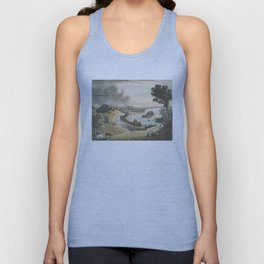 Vintage Pictorial Map of Richmond VA (1834) Unisex Tank Top