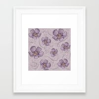 magnolia Framed Art Prints featuring Magnolia by Vickn