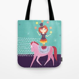 Circus Girl Tote Bag