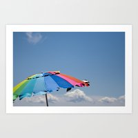 Umbrella Rainbow Art Print