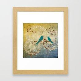 Bleu Birds Framed Art Print