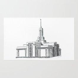 Mount Timpanogos LDS Temple Rug