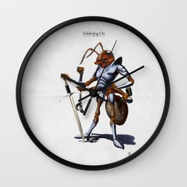 Soldiering On Wall Clock
