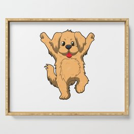 Jubilation Dog Dance Emote Funny Gift Serving Tray