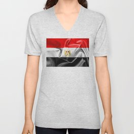 Egypt Flag Unisex V-Neck