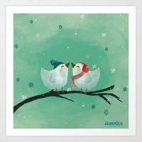 Lovely birds Art Print