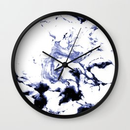 Suminagashi marble watercolor pattern art pisces water wave ocean minimal design Wall Clock