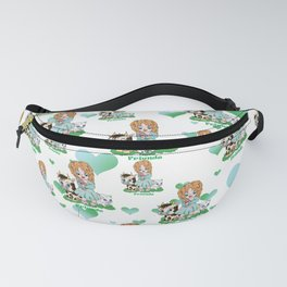 Farmyard friends with green text Fanny Pack