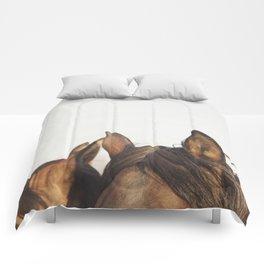 Horse Ears Modern Print Comforters