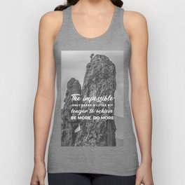 Achieve The Impossible Goals Dreams Ambitions Unisex Tank Top
