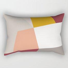 Abstract Geometric 27 Red Rectangular Pillow