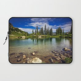 Mountain Lake in the Mt Rainier National Park Laptop Sleeve