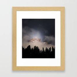 Mount Tehama (Brokeoff Mountain) Framed Art Print