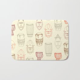 African drums and masks Bath Mat