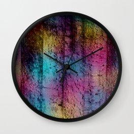 Unicorn on Wood 07 Wall Clock