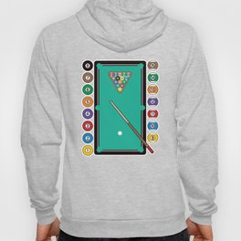 Billiards Table and Equipment Hoody