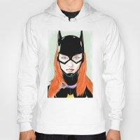 batgirl Hoodies featuring Batgirl by Matthew Bartlett
