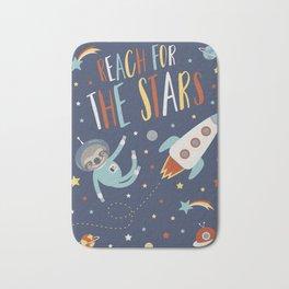 Space Sloth Reach the Stars Bath Mat