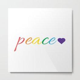 Rainbow Peace Metal Print