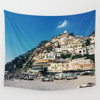 greece Wall Tapestries featuring Greece by maargopolo