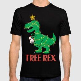 Cute Tree Rex Christmas Tree Dinosaur Holiday T-Shirt T-shirt