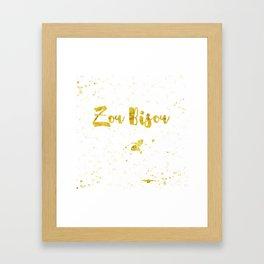 Zou bisou Framed Art Print