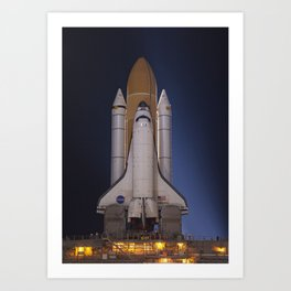 668. Space Shuttle Atlantis Art Print