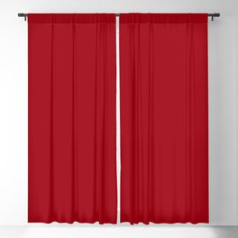 Solid Dark Cranberry Red Color Blackout Curtain