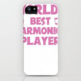 World's Best Harmonica Player iPhone Case