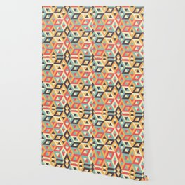 Pastel Geometric Pattern Wallpaper