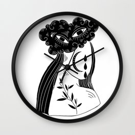 Rain Girl Wall Clock