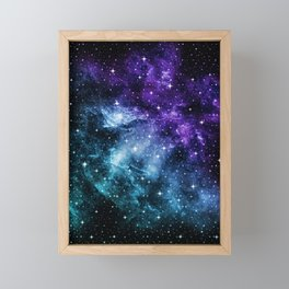 Purple Teal Galaxy Nebula Dream #1 #decor #art #society6 Framed Mini Art Print