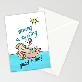 Have a barking good time! Stationery Cards
