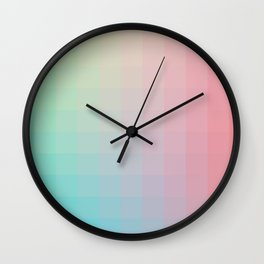 Lumen, Pink and Teal Wall Clock