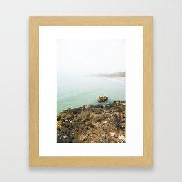 Bay of Pigs Playa Larga Cuba Caribbean Sea Ocean Beach Geology Limestone Tropical Island Fog Mist Ne Framed Art Print