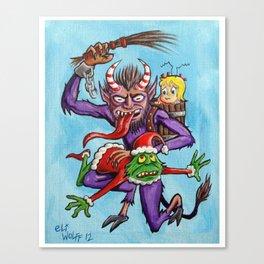 Krampus visits Whoville Canvas Print